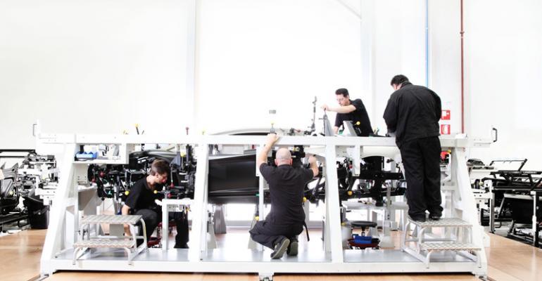 Workers handbuild supercar at Sant39Agata Bolognese plant