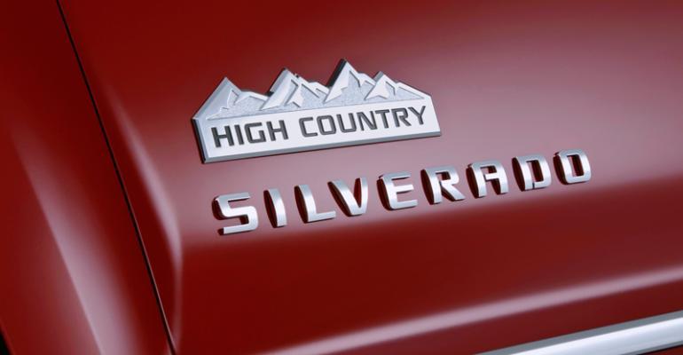 Chevy Silverado High Country model starts at 45000