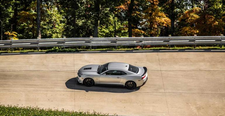 GM says rsquo14 Chevy Camaro Z28 most trackcapable in its segment
