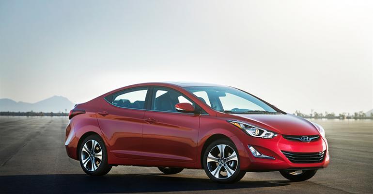 rsquo14 Elantra sedan on sale in December