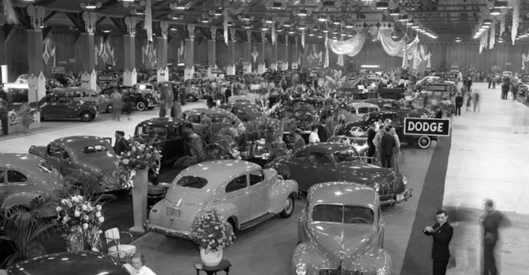 The 1939 National Automobile Show at Grand Central Palace in New York City