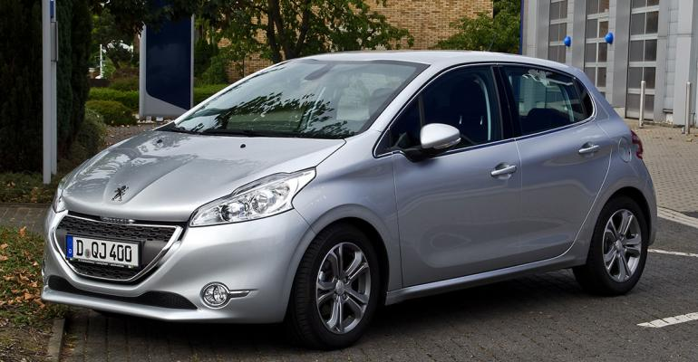 Peugeot 208 automakerrsquos only top10seller in Europe