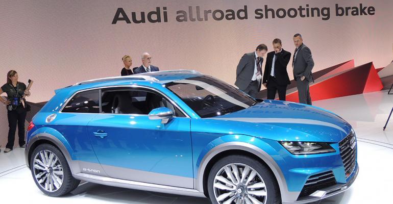 Audi unveils Allroad plugin hybrid compact CUV at auto show