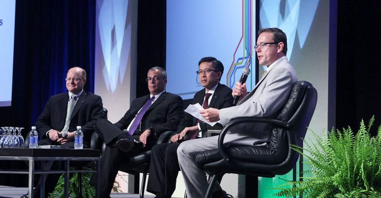 Autoliv America President Steve Fredin far left at MBS panel discussion