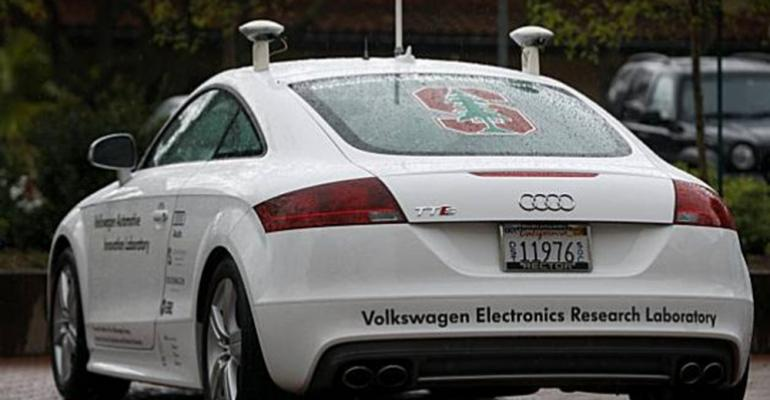 Volkswagen Stanford collaborate on selfdriving Audi