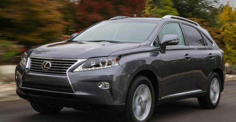 Lexus RX 350 posts decline in September