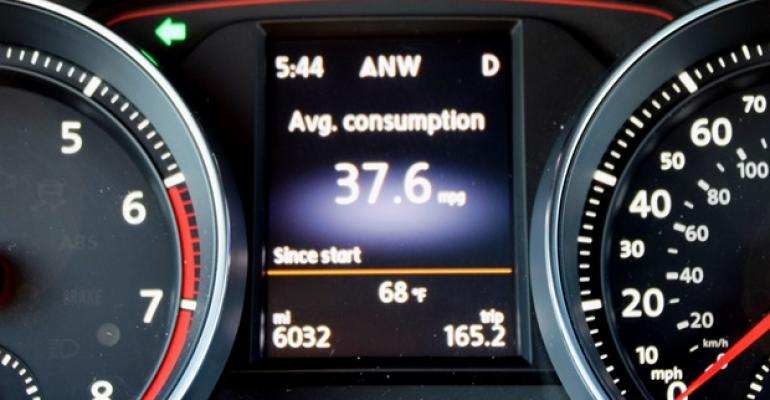 For at least one editor average fuel economy in VW GTI topped 37 mpg 63 L100 km