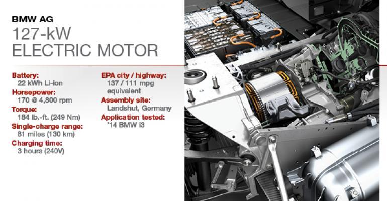 2015 Winner: BMW 127-kW Electric Motor