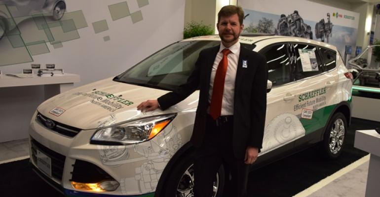 Schaeffler North America Chief Technical Officer Jeff Hemphill with Ford Escape concept vehicle