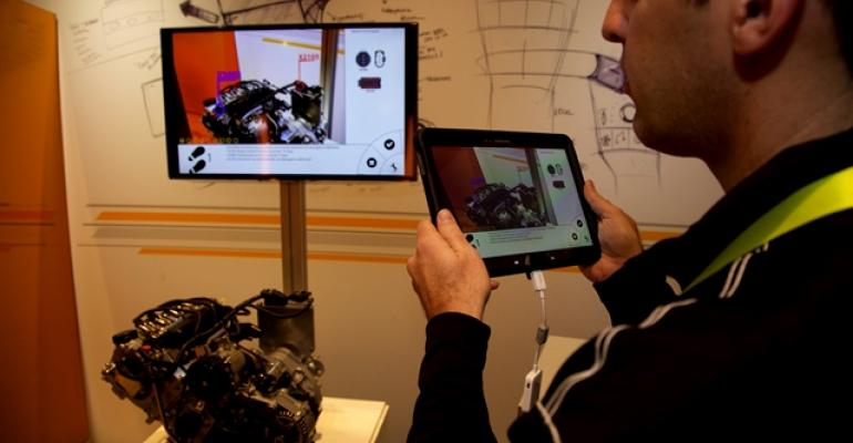 Continentalrsquos augmentedreality tablet draws vehicle information from cloud