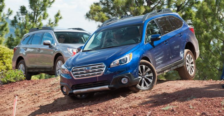 rsquo15 Outback heads downhill as Subaru sales head up
