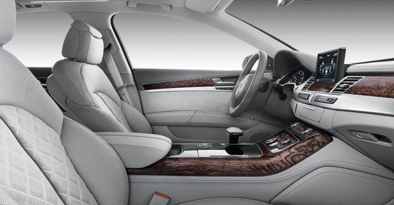 rsquo12 A8 W12 longwheelbase sedan marked zenith of Audirsquos interior design superiority