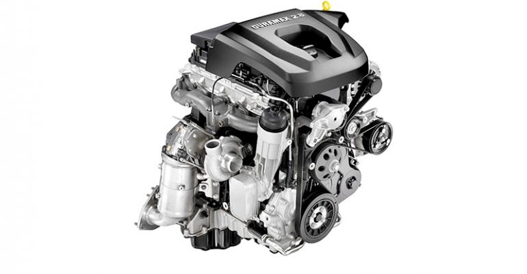 Duramax 28L 4cyl churns out 369 lbft 500 Nm of twist at 2000 rpm trouncing 36L gasoline V6