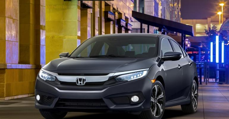 3916 Honda Civic sedan on sale in fall in US