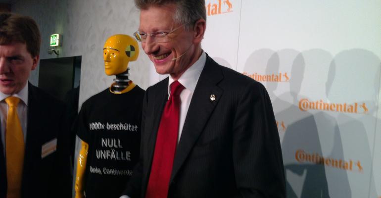 Continental CEO Elmar Degenhart says demand brisk for connectedvehicle automateddriving technologies