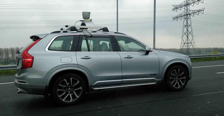 Advanced safety systems assist selfdriving Volvo XC90