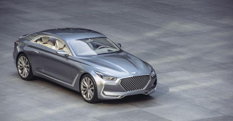 Hyundai Vision G coupe concept styling hints at design of new Genesisbrand models
