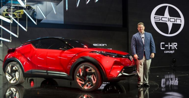 New Scion VP Gilleland with CHR concept