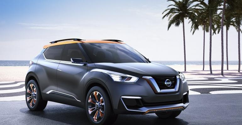 Nissan Kicks concept shown assembly begins this year in Brazil
