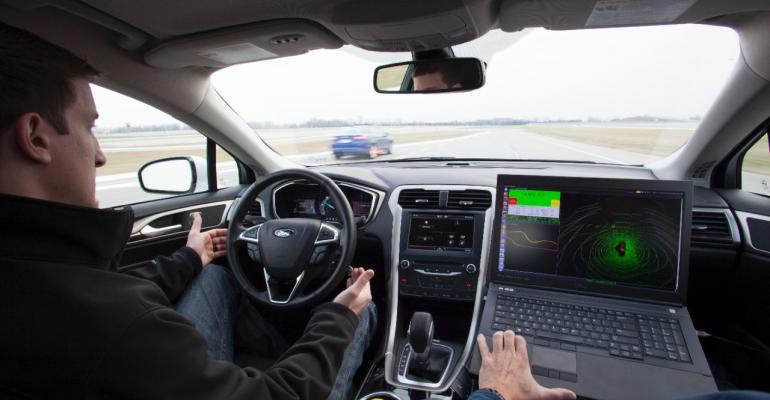 Ford autonomous car tested