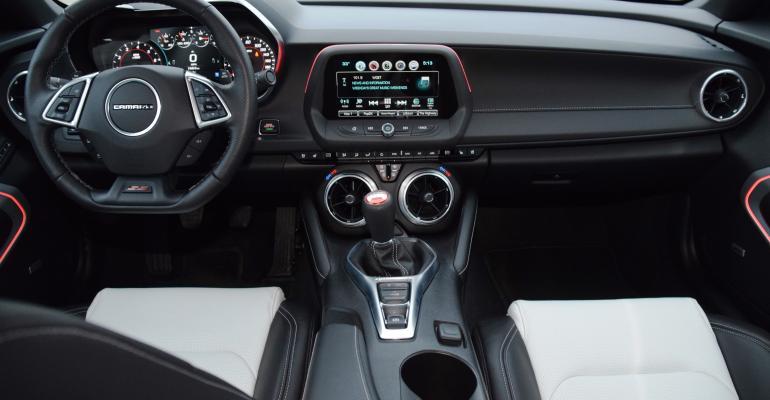 Chevy Camaro interior sporty high tech