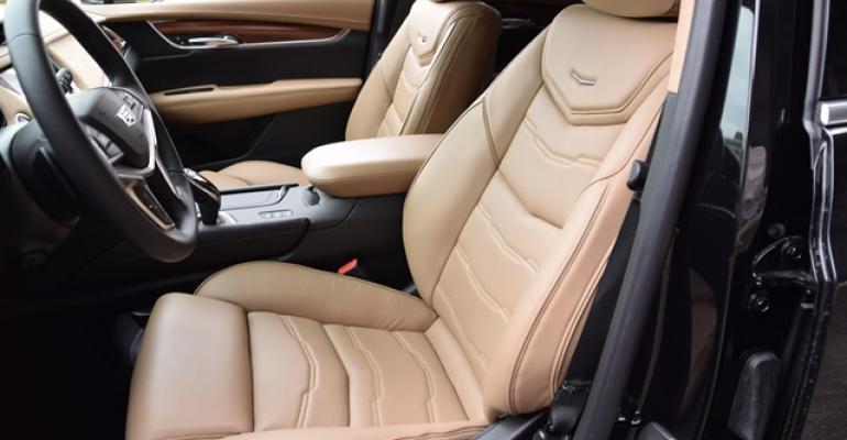 Semianiline Maple Sugar leather seats are firm comfortable and supportive