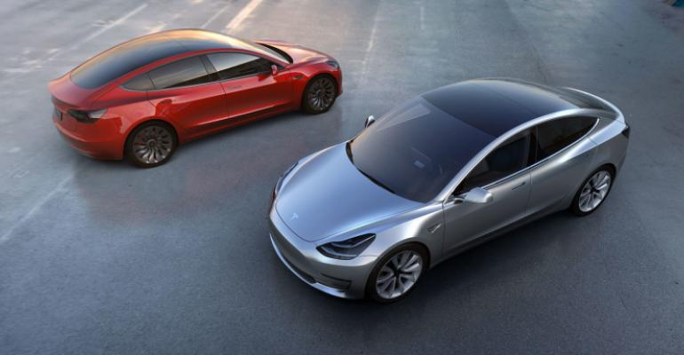 Model 3 priced at less than half of Teslarsquos pioneering 80000 Model X