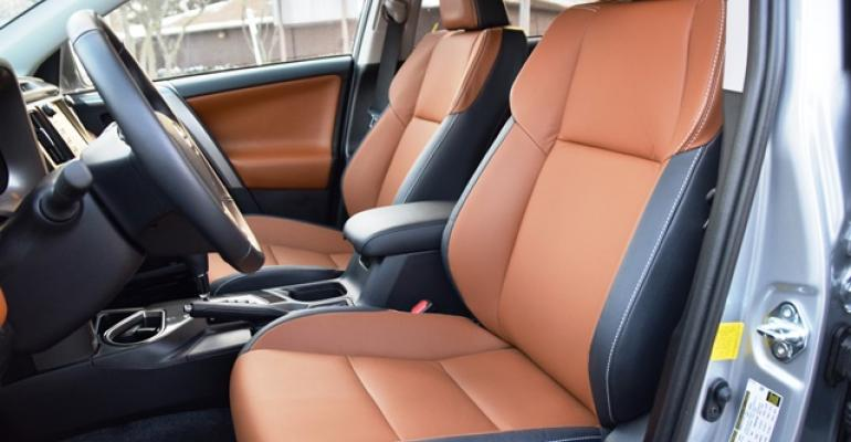 Butterscotch and black play well in Toyota RAV4