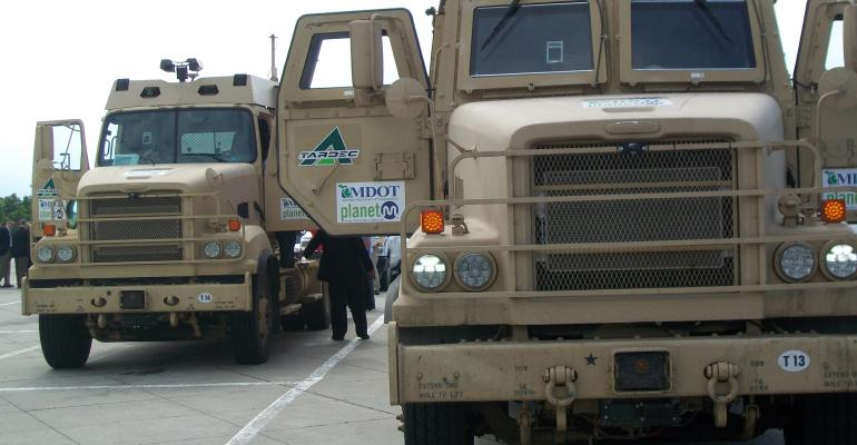 TARDEC vehicles queued up for I69 test