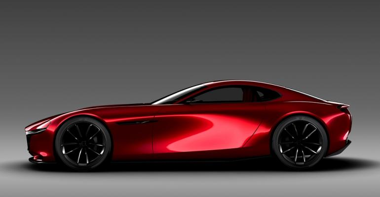 Mazda RX Vision concept car would represent automakerrsquos rotaryengine reintroduction if the vehicle is built