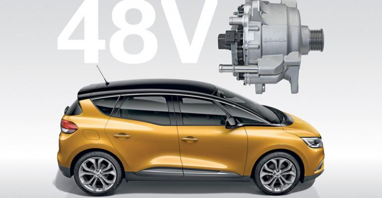 Renault Scenic first with Continentalrsquos 48V Eco Drive hybrid system