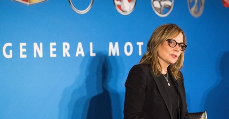 GM CEO Barra in Detroit