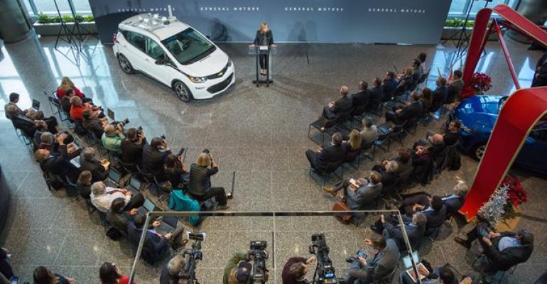 Barra speaks at kickoff for autonomouscar testing in Michigan last year