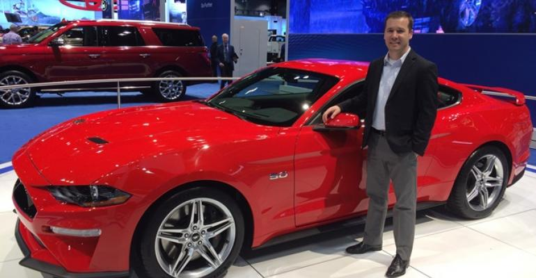 Schaller with rsquo18 Mustang at Chicago auto show