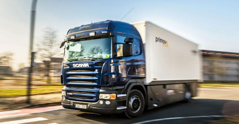 Wirelesscharging test subjects include 10ton truck in Mannheim Germany