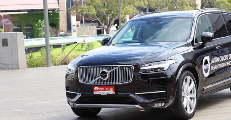 Volvo blazed driverlesscar trail through Australia in late 2015