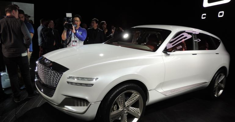 Genesis GV80 concept car at New York auto show debut
