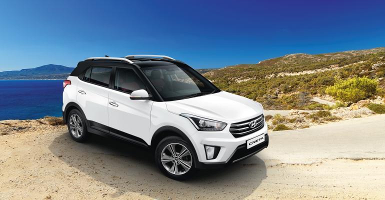 Creta CUV helps push Hyundairsquos annual India sales past 500000 mark in 2016