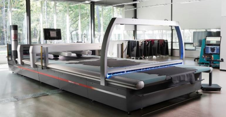 Lectrarsquos Versalis digital leathercutting machine maximizes use of expensive hides
