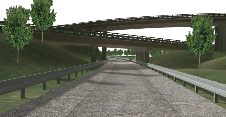 Freeway ramps left over from Willow Runrsquos past will be part of the new American Center for Mobility test track