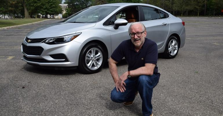 Editor Winter impressed with quiet highway manners of Chevy Cruze diesel which stickers for 27395
