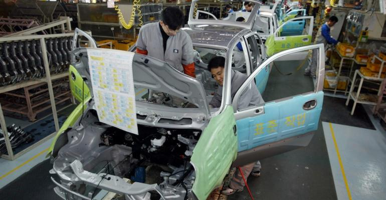 Changwon plant built 210000 units in 2016 third among GM Korearsquos three factories