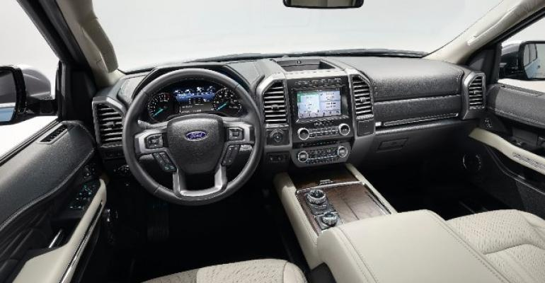 Uncluttered spacious Expedition cockpit puts controls information at fingertips