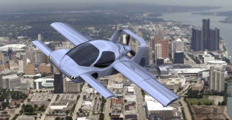 Sanjay Dhall39s Detroit Flying Car prototype