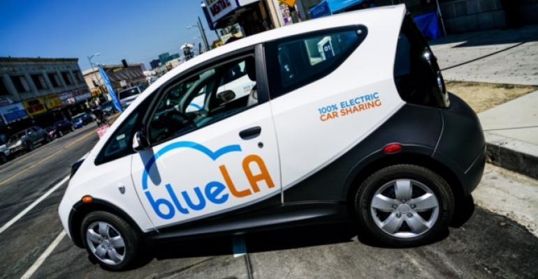 Bluecar models for Los Angeles EV program produced by Pininfarina
