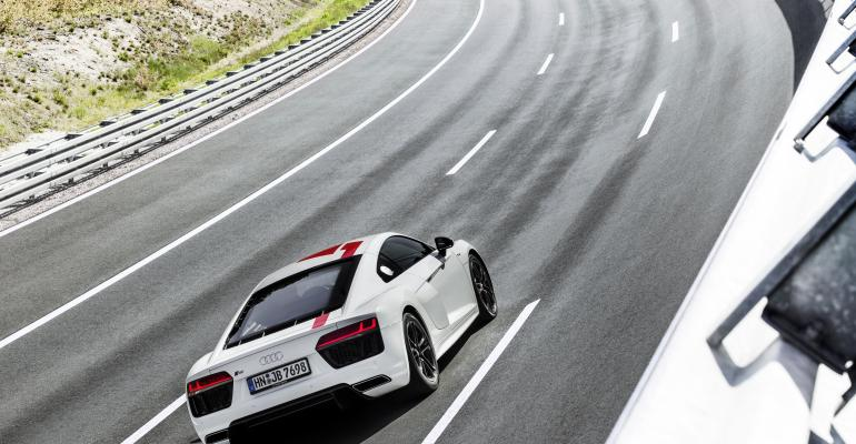 New R8rsquos rearwheel drive configuration improves weighttopower ratio