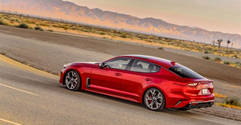 Kia Stinger offers great styling luxury sedan performance and CUVlike practicality