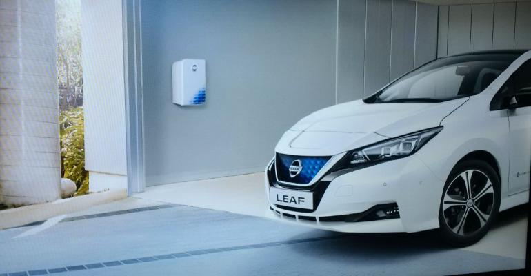 Leaf batteryelectric car candidate for vehicletogrid power play