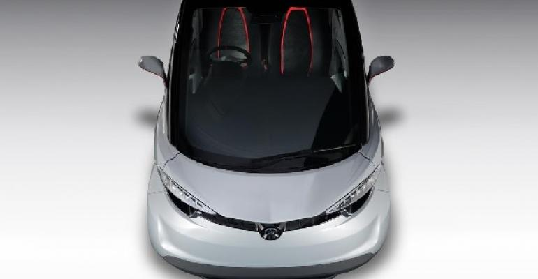 iStream lightweighting technology applied to seats in Yamaha electric city car