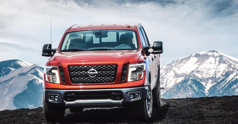 Titan is V8 only either gasoline or diesel